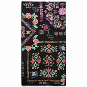 Desigual Foulard New Tapestry à imprimé floral Noir