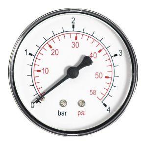 """Ferro 60mm 10bar huile de l'air de la jauge de pression de 150 psi ou de l'eau 1/4 """"""""BSPT arrière manomètre d'entrée"""