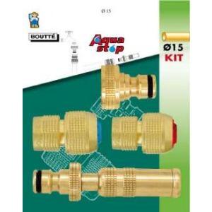 Boutté 0802890 - Kit d'arrosage 4 pièces pour tuyau Ø15