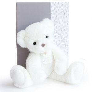 Histoire d'ours Coffret peluche Ours Moonlight Les ours poudrés blanc (38 cm)