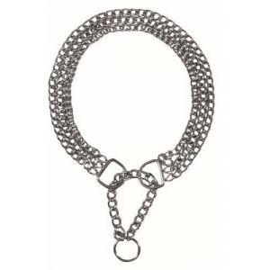 Trixie Collier étrangleur 3 rangs avec sécurité 65 cm/2,5 mm