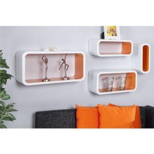 cube deco blanc comparer 170 offres. Black Bedroom Furniture Sets. Home Design Ideas