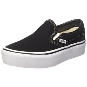 Vans Classic Slip-on Platform, Baskets Enfiler Femme, Noir (Black Blk), 37 EU