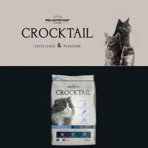 Flatazor Croquettes CROCKTAIL Sterilized au Poulet pour Chat - 2Kg
