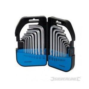 Silverline 341662 - Coffret de 18 clés 6 pans / Torx