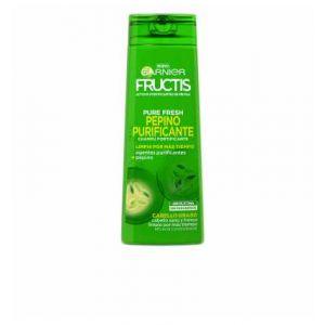 Garnier Pure Fresh shampooing Fructis Purification de concombre - Graisse de cheveux sans silicone sans paraben - 360 ml