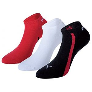 Puma Chaussettes -underwear Lifestyle Sneakers 3 Pack - Black / White / Red - EU 43-46