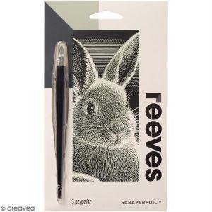 Reeves Carte à gratter Mini Argentée Lapin - 11 x 18 cm
