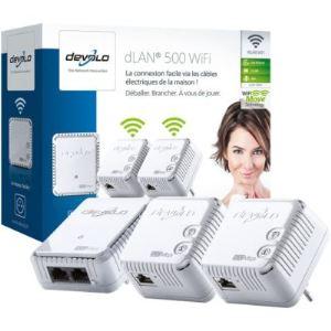 Devolo 9091 - Network kit de 3 adaptateurs CPL dLAN 500 WiFi Ethernet