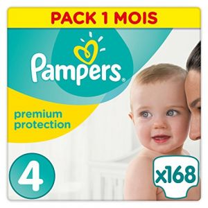 Pampers Premium Protection taille 4 Maxi Pack 8-16 kg - 168 couches