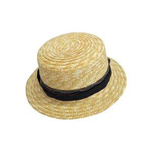 e36878df94a Smiffy s chapeau canotier luxe en paille naturelle