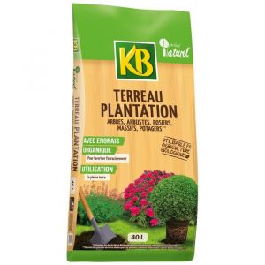 KB Terreau de plantation - Arbres, arbustes et rosiers - 40 L