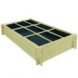 VidaXL Jardinière pour légumes Bois de pin imprégné 197 x 100 40 cm