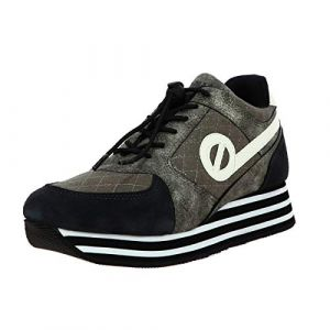 No Name Chaussure PARKO JOGGER SUEDE PADDED noir Femme solde taille : 35, 38