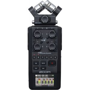 Zoom H6-BLK/IFS - Enregistreur 6 pistes portable à microphones interchangeables - 1x microphone XY, 1x microphone Mid-side et 4x entrées XLR
