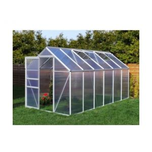 Plantiflex Serre de jardin 7.03 m² en aluminium avec porte et fenêtre