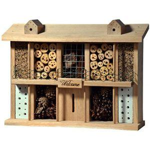 Luxusinsektenhotels Hôtel à insectes en bois de chêne 10 pièces + balcon et terrasse
