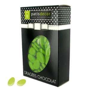 Patisdécor Dragées chocolat vert anis - 500g