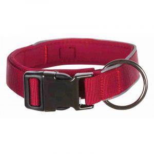 Trixie Experience collier, extra large - L-XL: 45-60 cm/40 mm, rouge lie de vin
