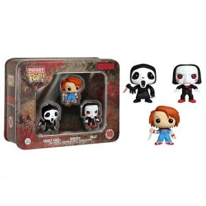 Funko Pack 3 figurines Pop! Horror : Ghost Face, Chucky et Billy pocket