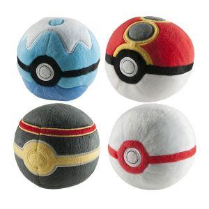 Tomy Pokémon T18552d3Poke Ball en peluche Unique assortis Boule Livrée au hasard