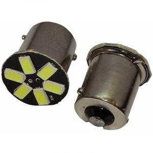 Aerzetix 2x ampoule 24V P21W R10W R5W 6LED SMD blanc pour semi-remorque porte de garage portail