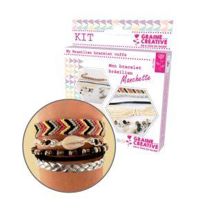 Graine Créative Kit Création de bracelet brésilien manchette - Bling bling