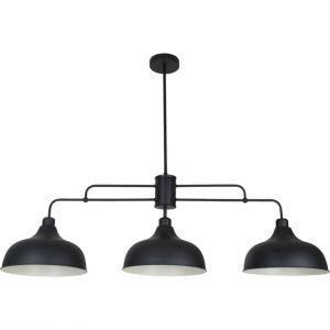 Image de Corep Suspension Barre 3 lumières Coniques en métal Noir réglable Lincoln