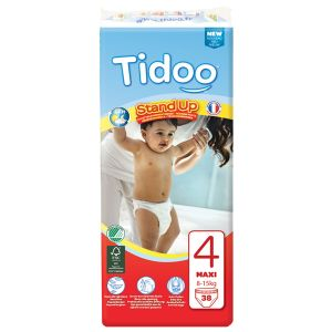 Tidoo Culotte d'apprentissage Stand Up Maxi taille 4 (8-15 kg) - paquet de 38