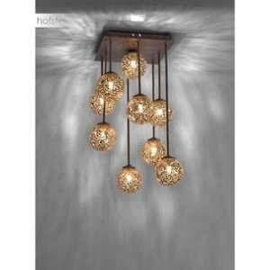 Paul neuhaus Plafonnier LED, Ampoule halogène G9 EEC: selon lampoule (A++ - E) 360 W GRETA 6238-48 rouille, or