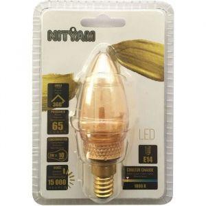 Ampoules LED E14 flamme Déco Nouvelle Génération - 2 W équivalence 10 W - Blanc chaud