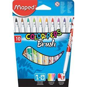 Maped Pochette de 10 feutres Brush