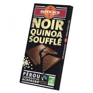 Alter Eco Chocolat noir quinoa soufflé bio