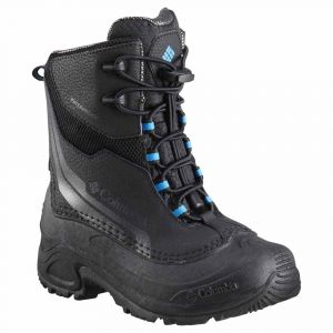 Columbia Bottes Youth Bugaboot Plus Iv Omni Heat - Black / Hyper Blue - Taille EU 38