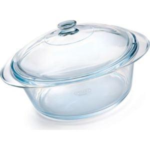 Pyrex Cocotte ronde Collection avec couvercle en verre (15,5 x 26,4 cm/2,5 L)