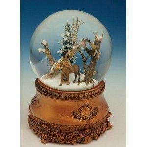 Spieluhrenwelt 51090 - Boule à neige musicale avec élan