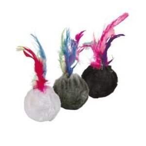 Trixie Lot de 2 balles plumes pour chat et chaton