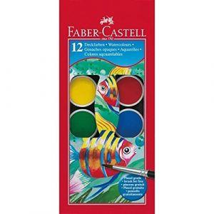 Faber-Castell 12 pastilles de gouache - Couleur assortie