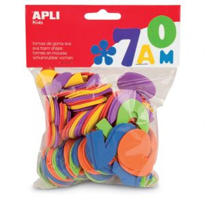 APLI Sachet de 104 lettres En mousse - Couleurs assorties