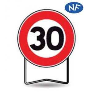Taliaplast 524412 - Panneau signalisation prescription b14 interdit +30km/h t1 650mm