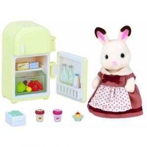 Epoch Sylvanian Families 5014 - Maman lapin chocolat et réfrigérateur