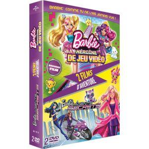 Coffret Barbie : Héroïne de jeu vidéo + Agents secrets