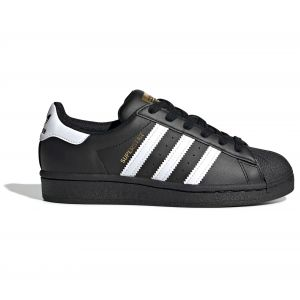 Adidas Superstar J, Chaussure de Gymnastique Mixte Enfant, Noir De Base/Blanc Blanc/Noir De Base, 36 2/3 EU