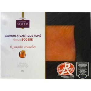 Monoprix gourmet Saumon Atlantique fumé, élevé en Ecosse - Les 6 tranches, 240g