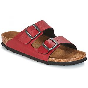 Birkenstock Arizona, Sandales Bout Ouvert Femmes, Rouge (Pull Up Bordeaux Veg Pull Up Bordeaux Veg), 35 EU