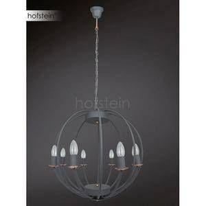 Wofi Suspension 8 lampes design Valetta Gris Métal 5440.08.50.6000