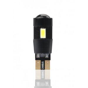 Habill-auto ampoule LED T10 W5W 12V canbus 6xSMD5730 + lentille blanc