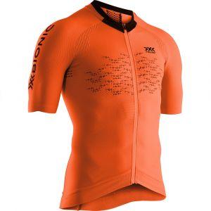 X-Bionic The Trick G2 Maillot de cyclisme Manches courtes Zip Homme, trick orange/arctic white S Maillots route