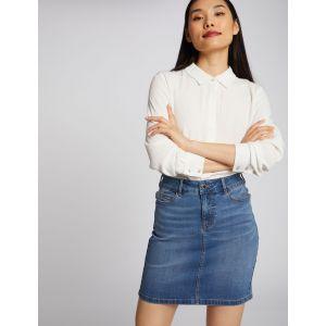 Morgan Jupe ajustée taille haute en jean