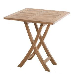 Table jardin carree teck comparer 66 offres - Fabriquer une petite table de jardin ...